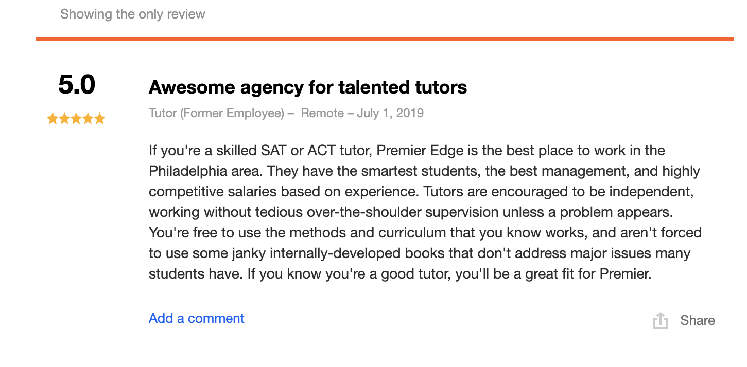 What our tutors have to say… -