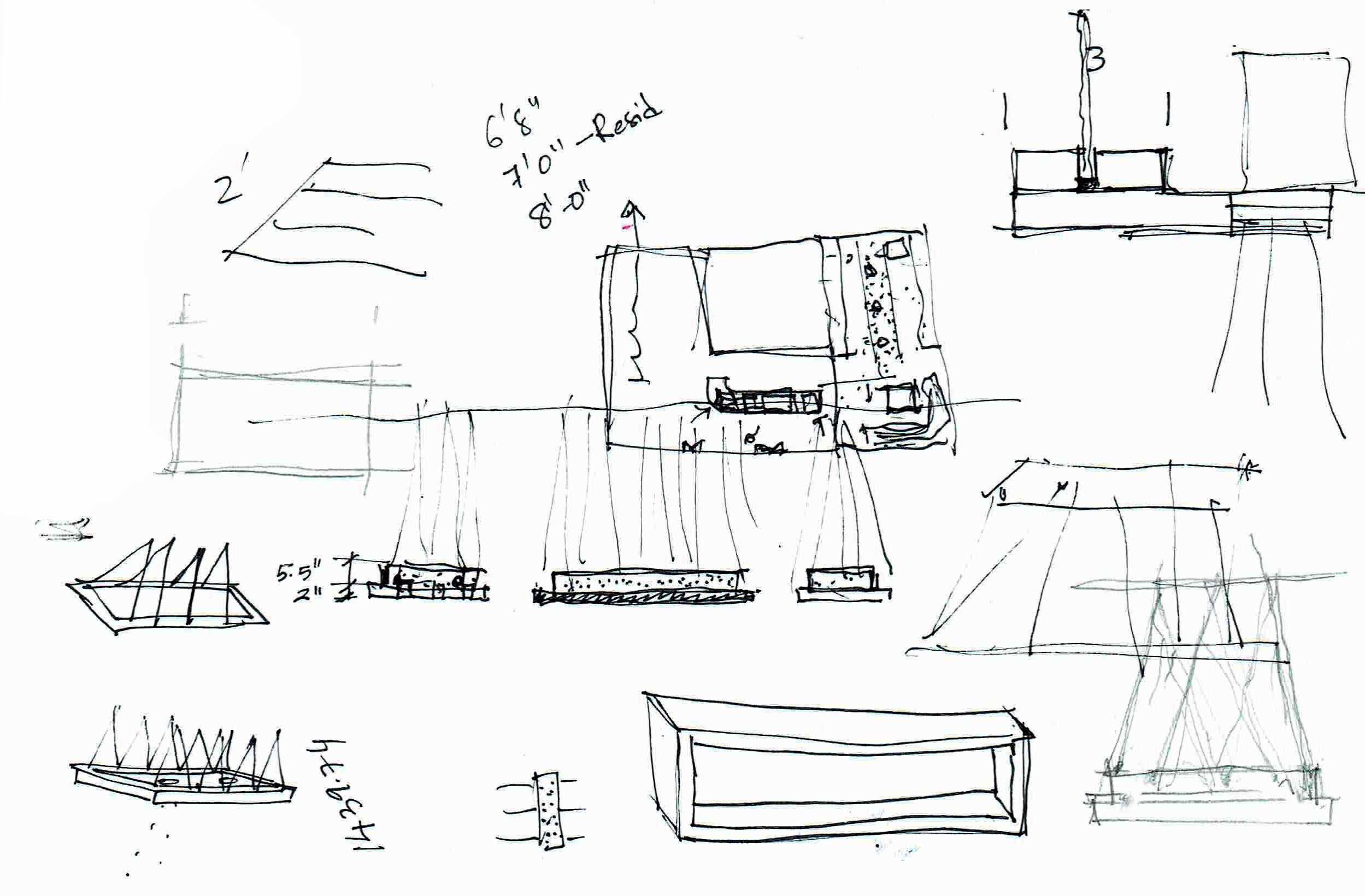 Custom Light Fixture Initial Sketches