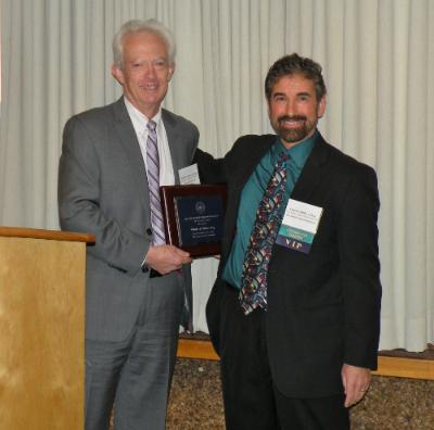 President's Award recipient Charles J. DiMare, Esq.with MBF President Robert J. Ambrogi