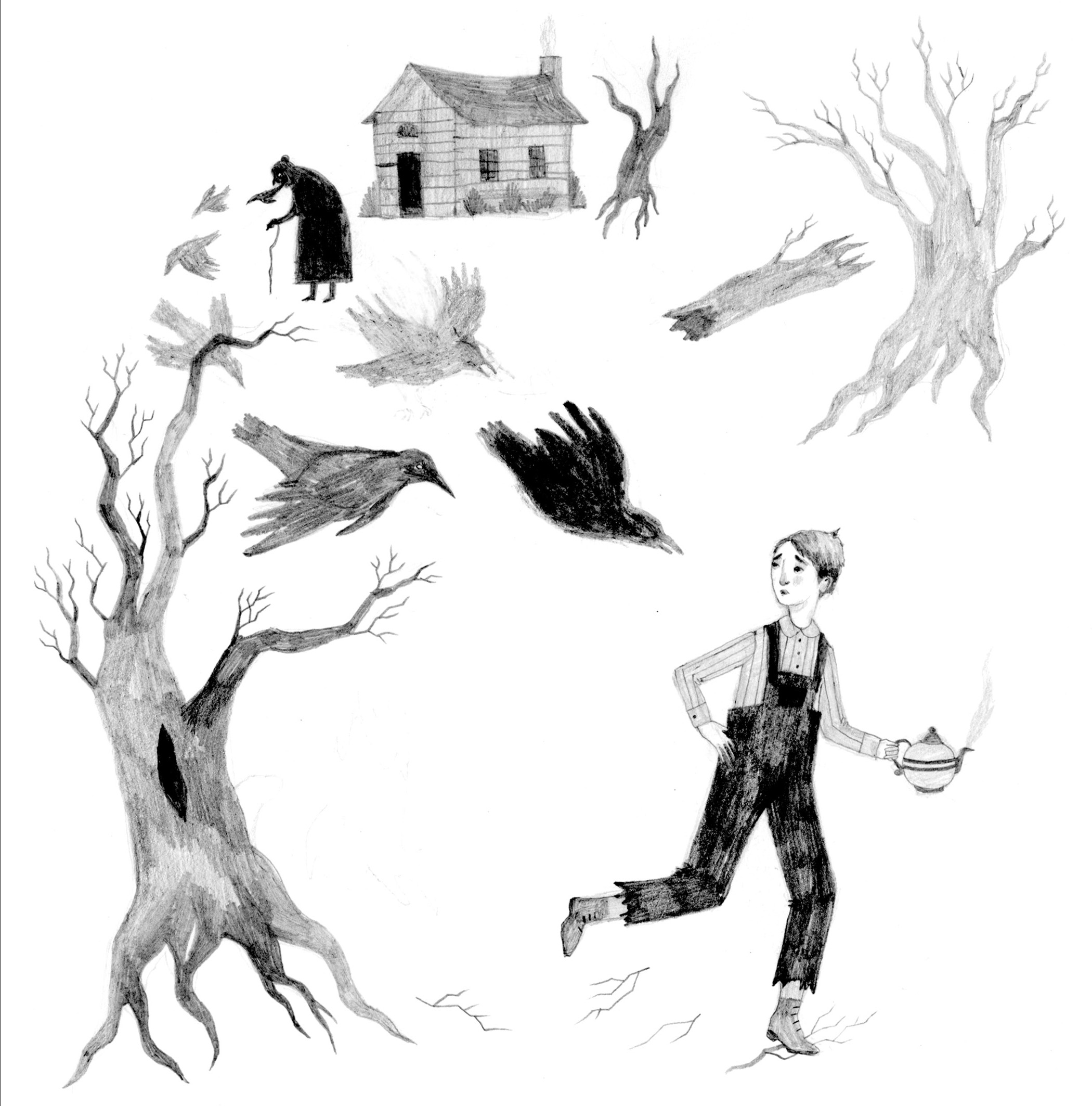 Sketch for  The Thief  (click to see larger)