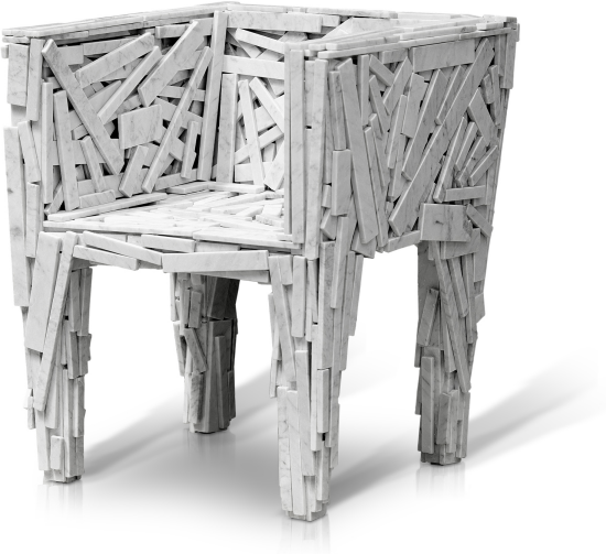 Favela Chair in white marble (2013)