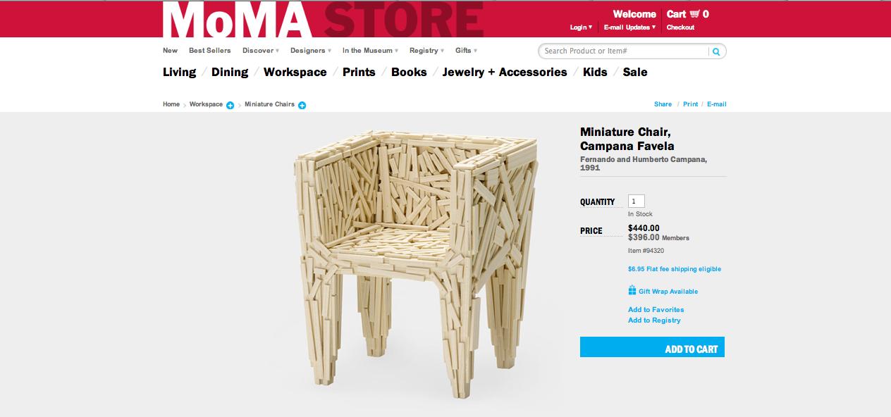 Miniature Chair, Campana Favela