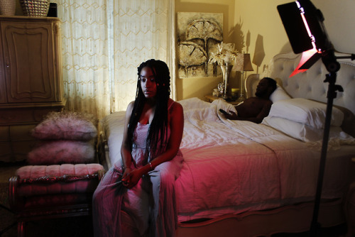 """Nia Devine on set for her new song """"Better"""""""