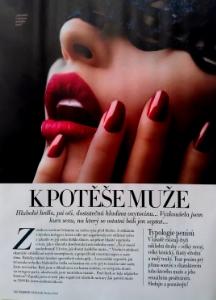 Inovovaný kurz Umění potěšit muže - zážitky popisuje vtipně redaktorka prestižního časopisu  Harpers Bazaar ZDE .