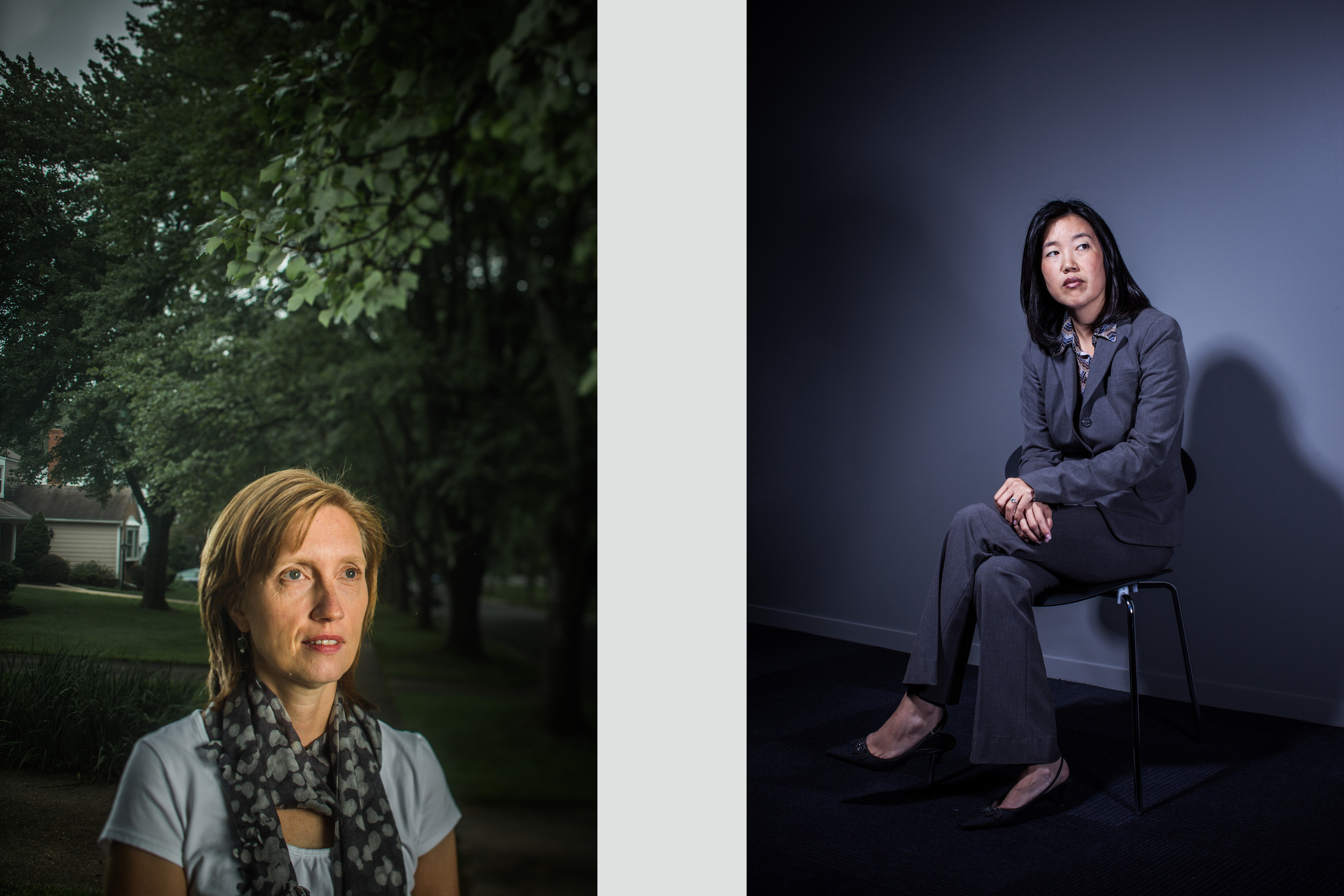 Andrea Hall of Amnesty International and former DC Schools Chancellor Michelle Rhee