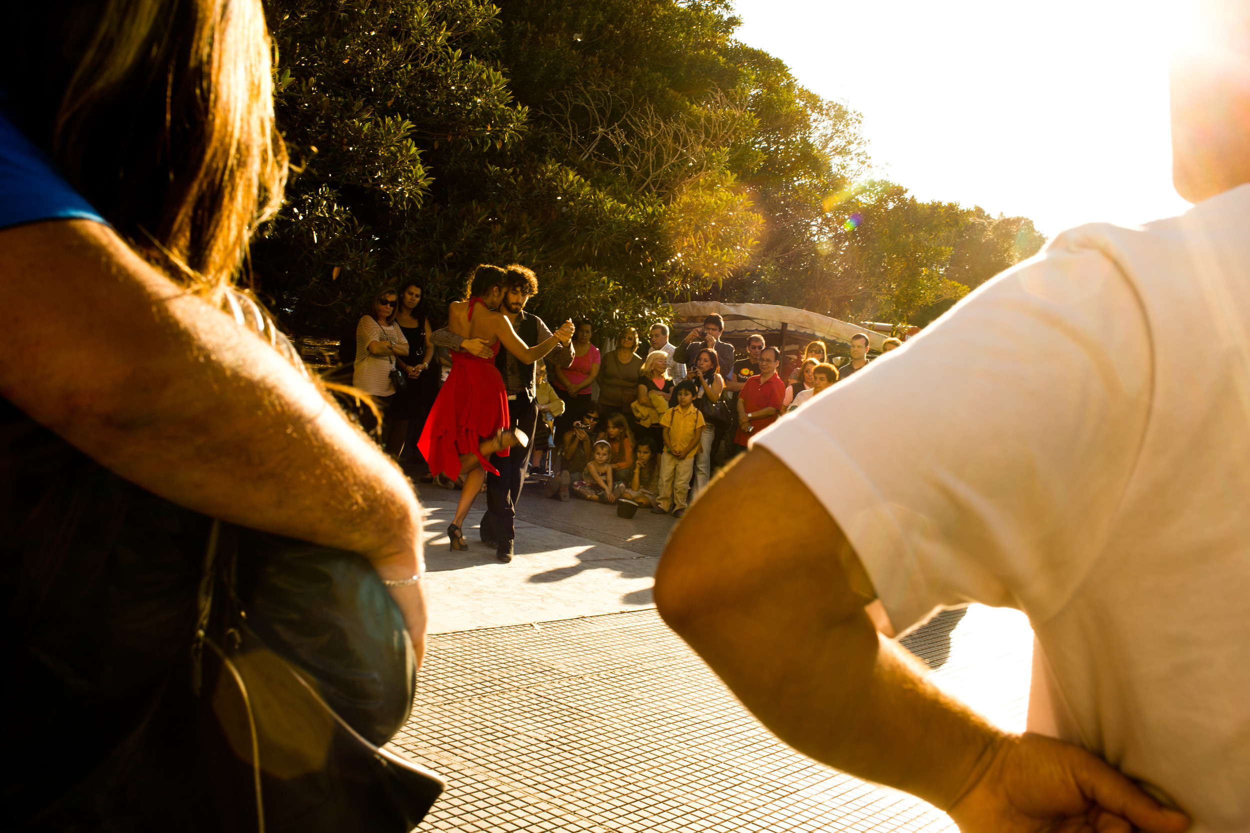 A couple dances the tango in Buenos Aires, Argentina.