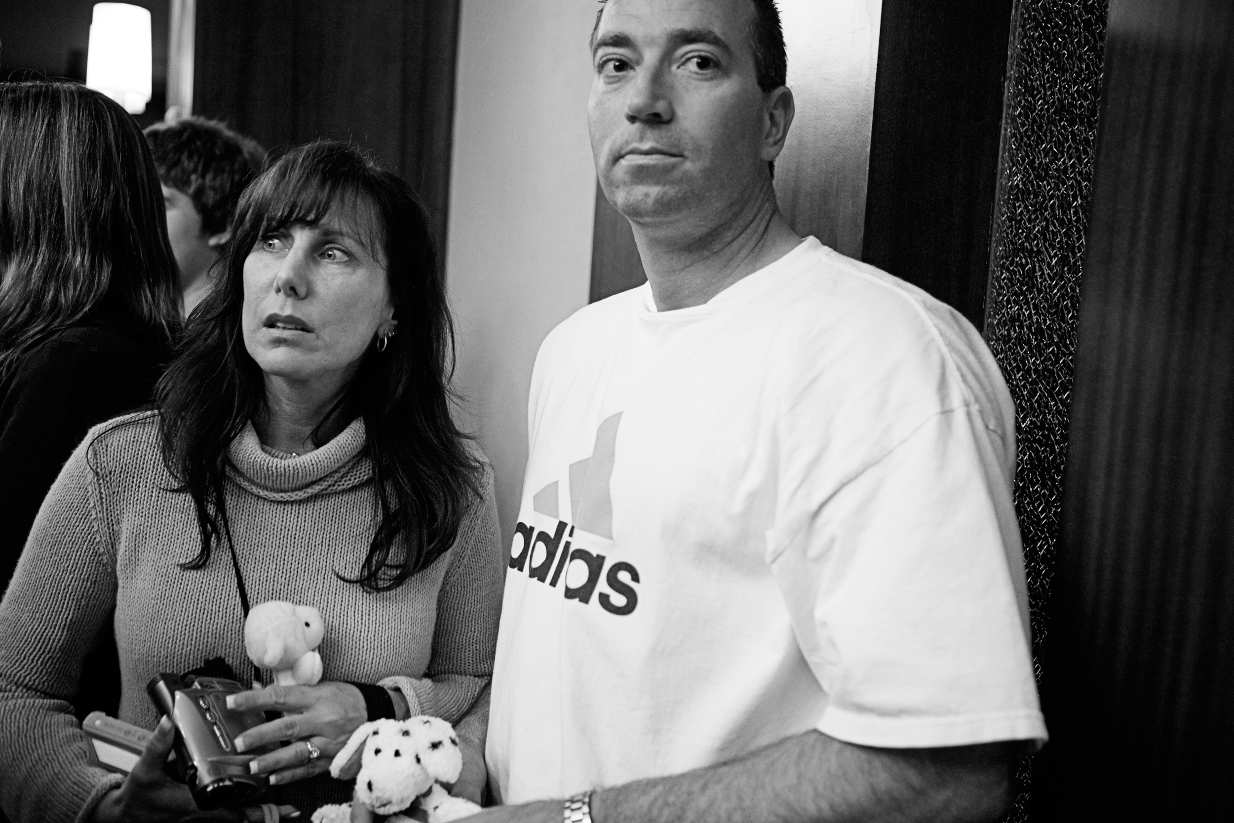Karen and Bob strain to look for Kailee, having received a few images from the orphanage of what she looks like.