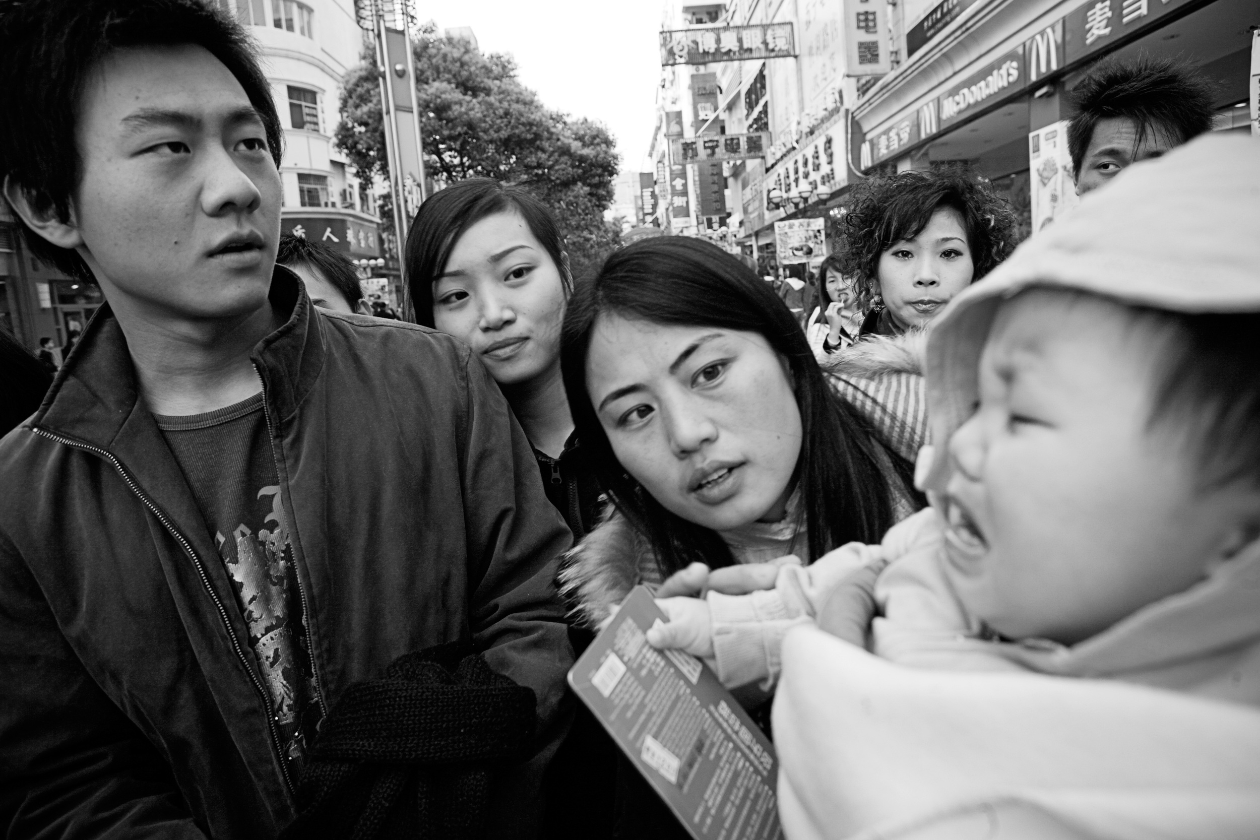 Everywhere Bob and Karen go with Kailee in Nanchang, they draw attention and curious onlookers.