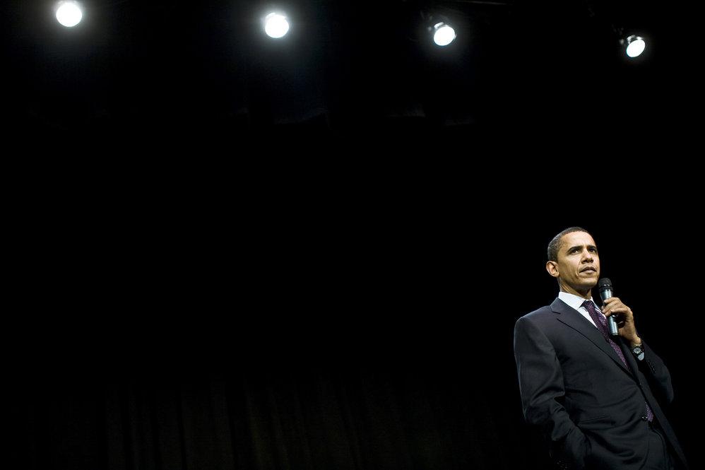 Obama Campaigns in Nashua, NH