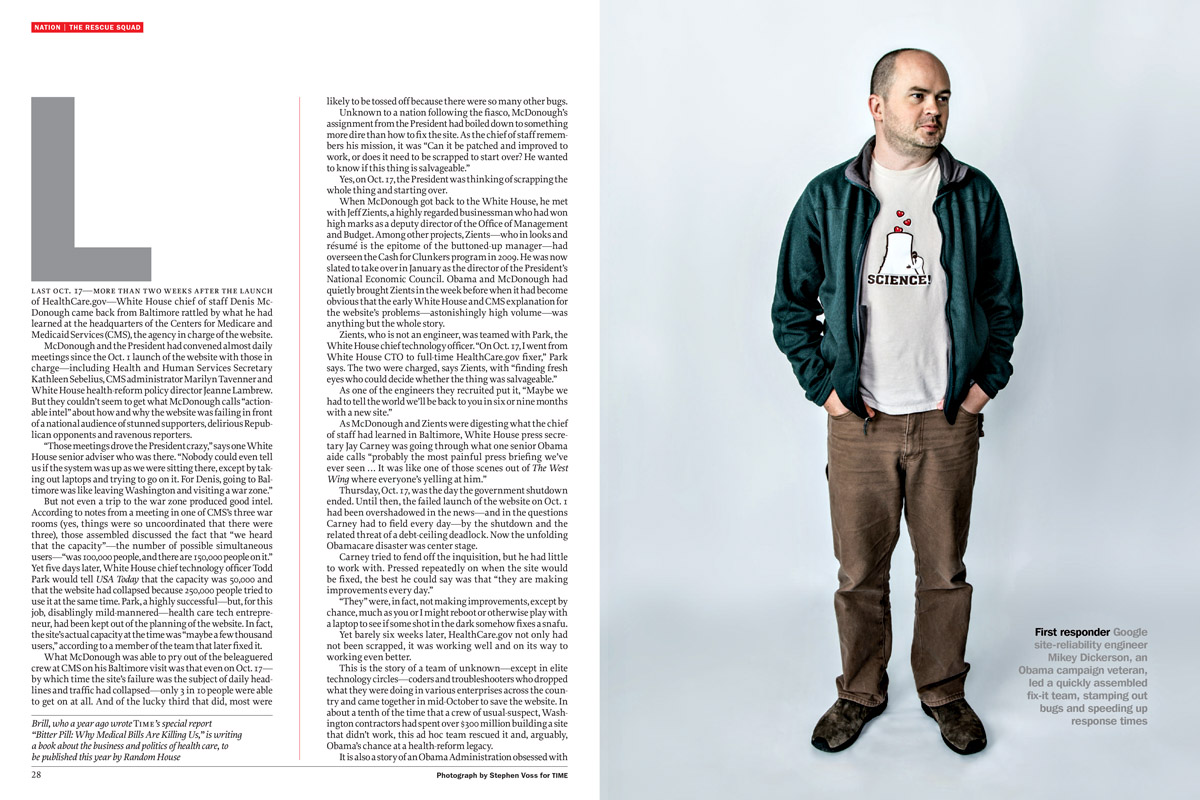 Google's Mike Dickerson for Time