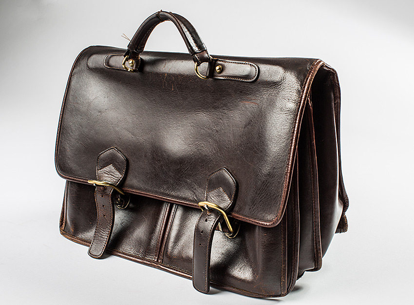Jon Huntsman's briefcase, for Time