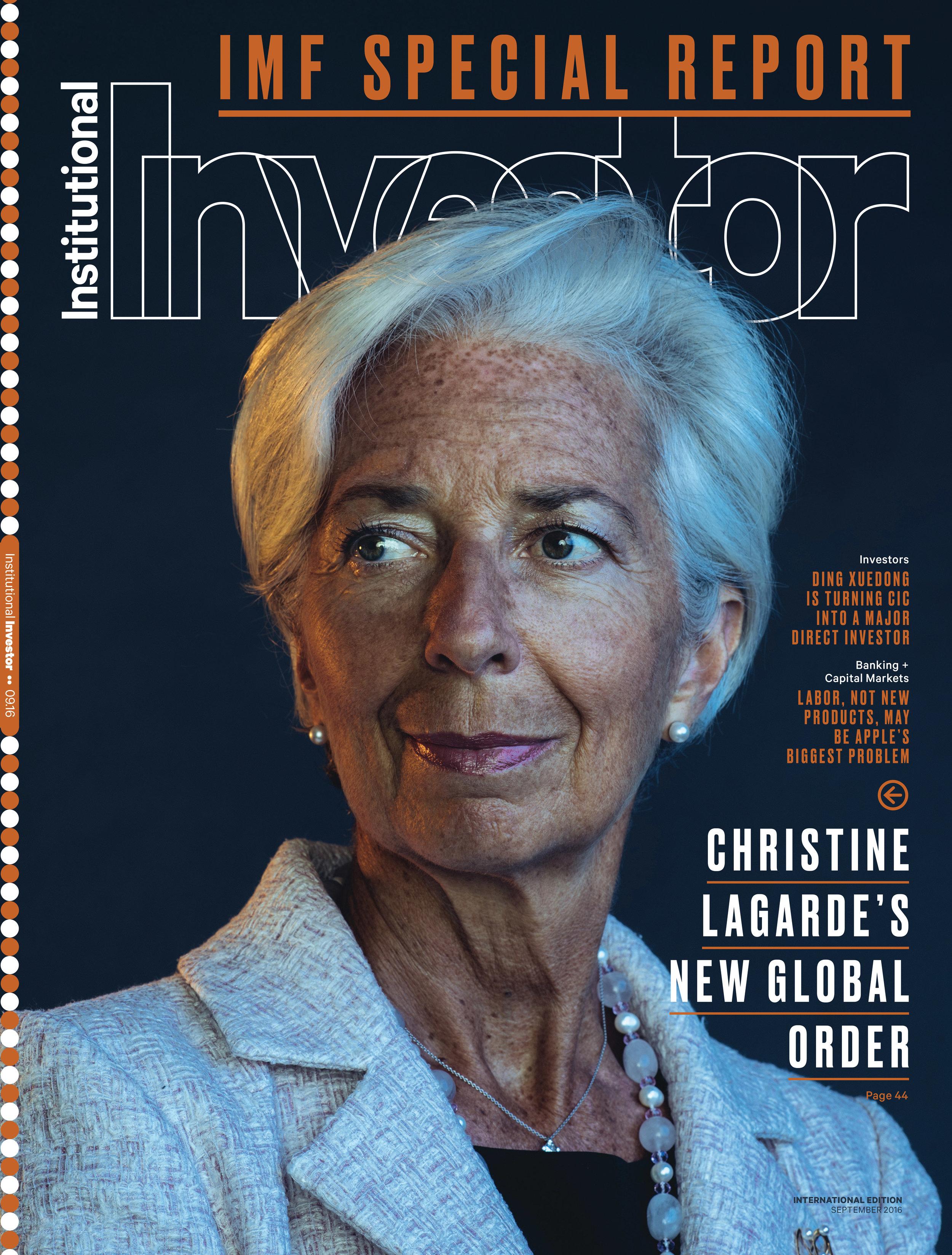 IMF Head Christine Lagarde for Institutional Investor