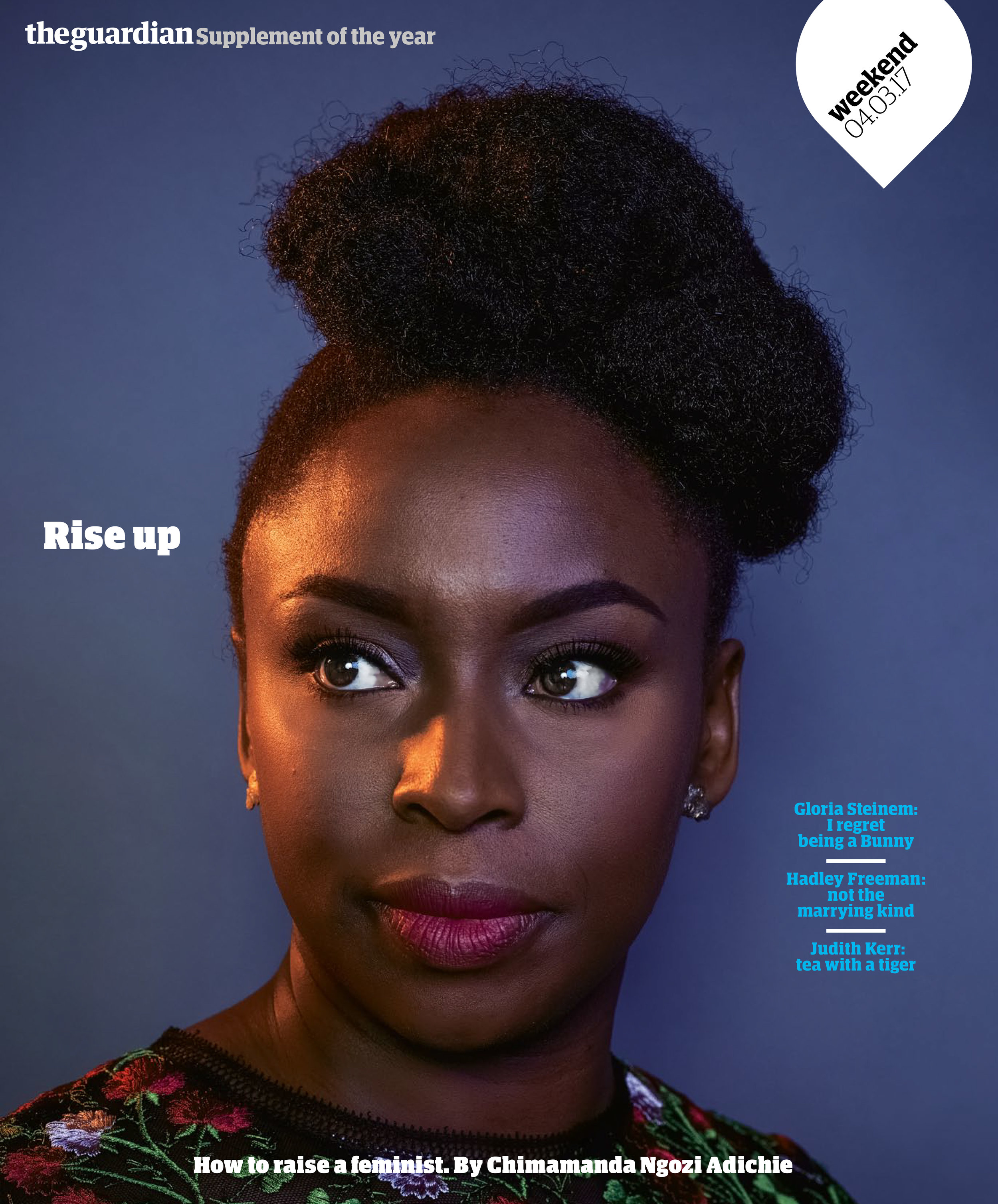 Just a quick note to share a shoot that just came out today for the Guardian Weekend Magazine. I had the pleasure of photographing one of my favorite authors, Chimamanda Ngozi Adichie for the Guardian Weekend Magazine. See the  inside spread here .