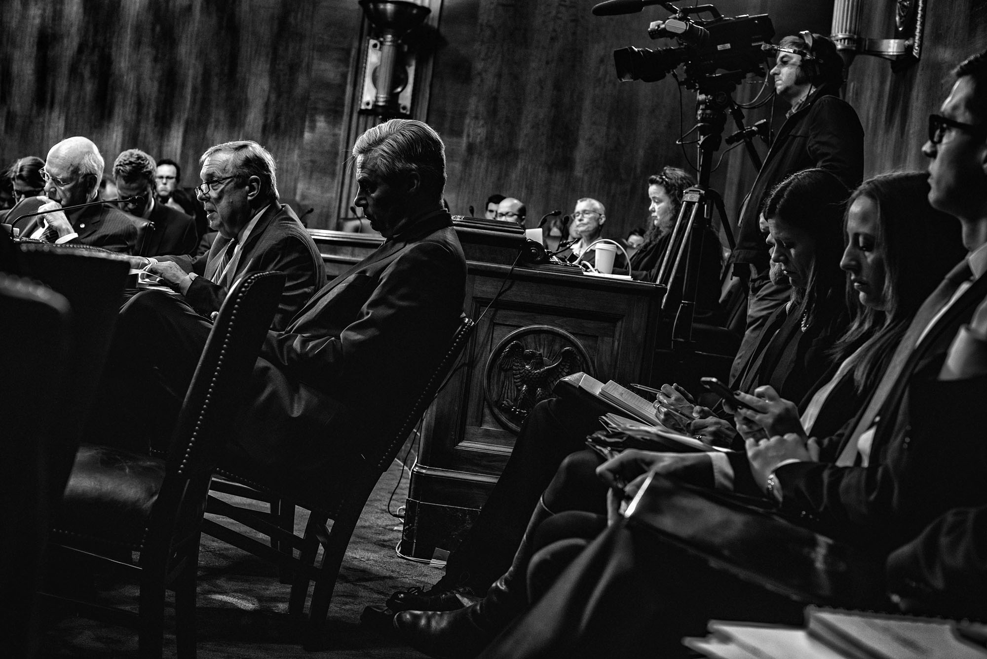 Senator Dick Durbin (D-IL) testifies in opposition to the nomination of Sen. Jeff Sessions for Attorney General of the United States on January 31, 2017.