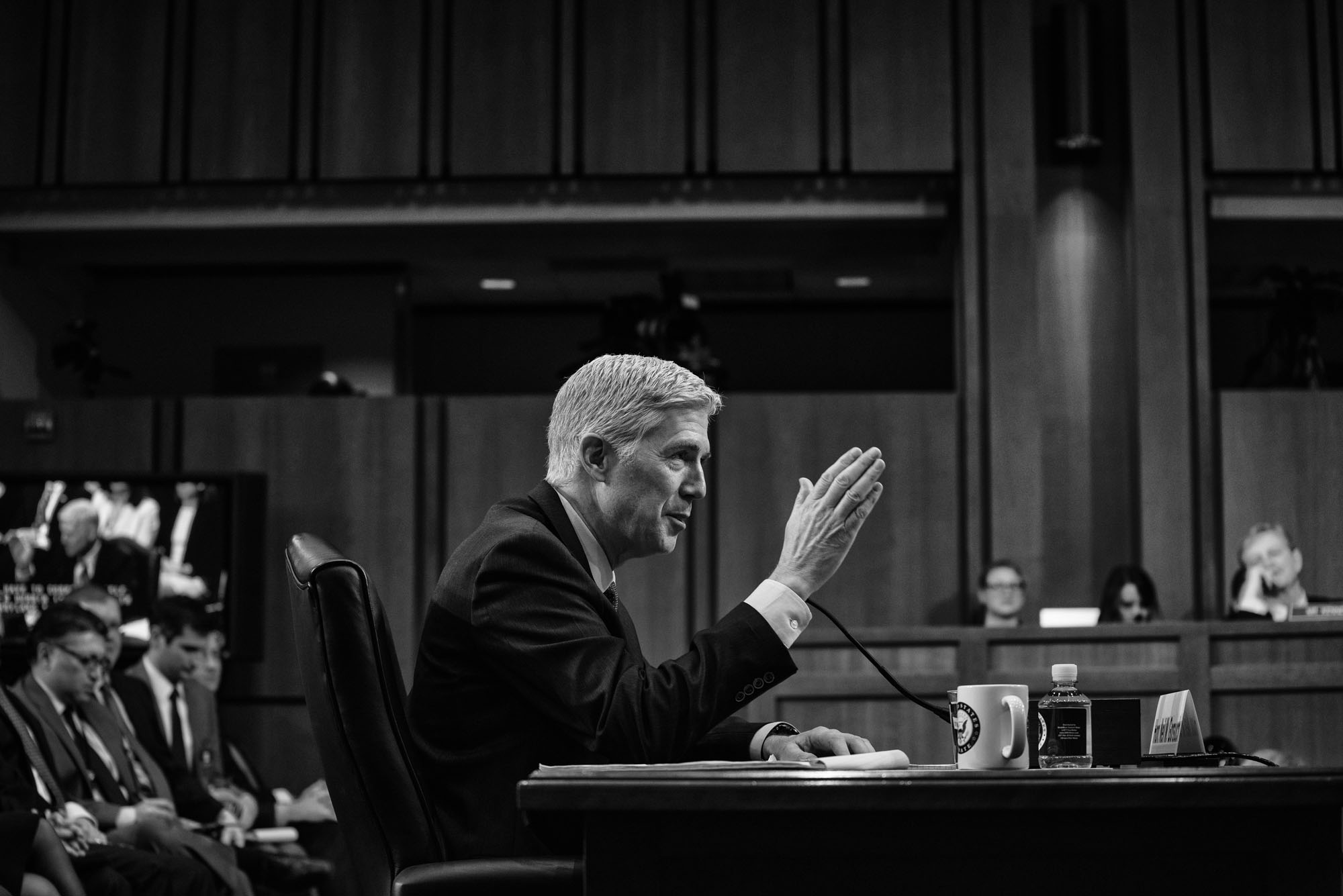 Judge Neil Gorsuch testifies during the second day of his Supreme Court confirmation hearing before the Senate Judiciary Committee on March 21, 2017.