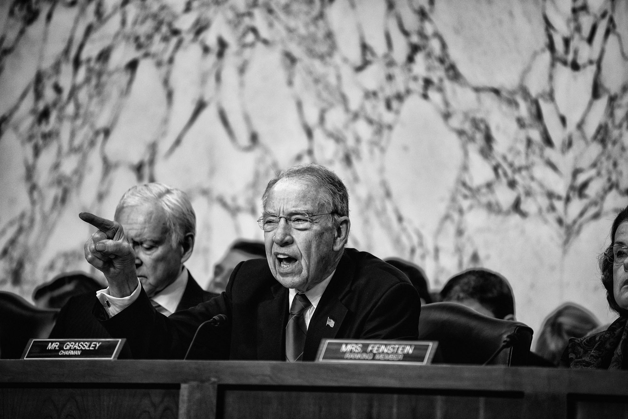 Senator Chuck Grassley questions Judge Neil Gorsuch  during the third day of his Supreme Court confirmation hearing before the Senate Judiciary Committee on March 22, 2017.