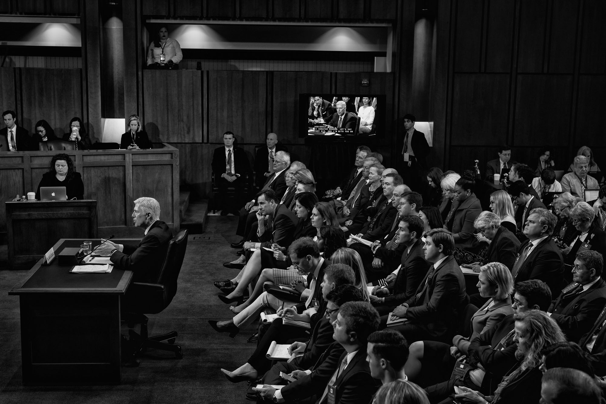 Judge Neil Gorsuch testifies during the third day of his Supreme Court confirmation hearing before the Senate Judiciary Committee on March 22, 2017.