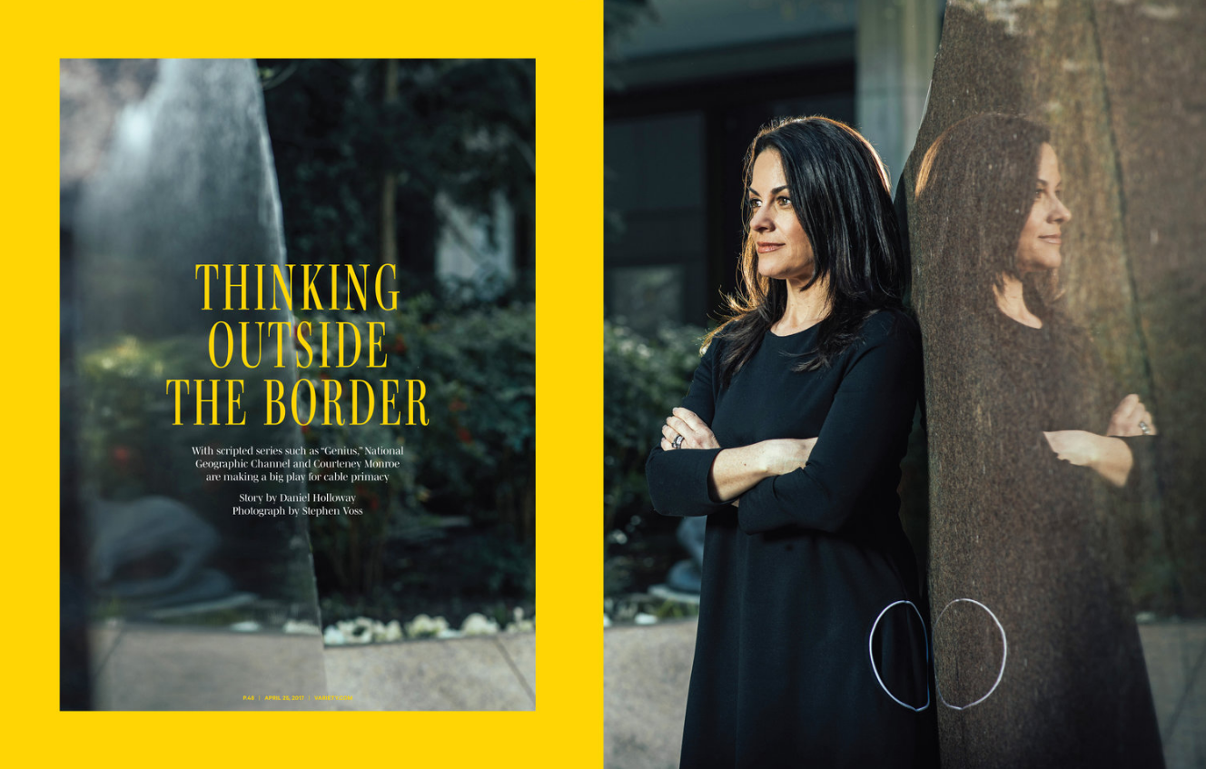 National Geographic Channel CEO Courteney Monroe for Variety