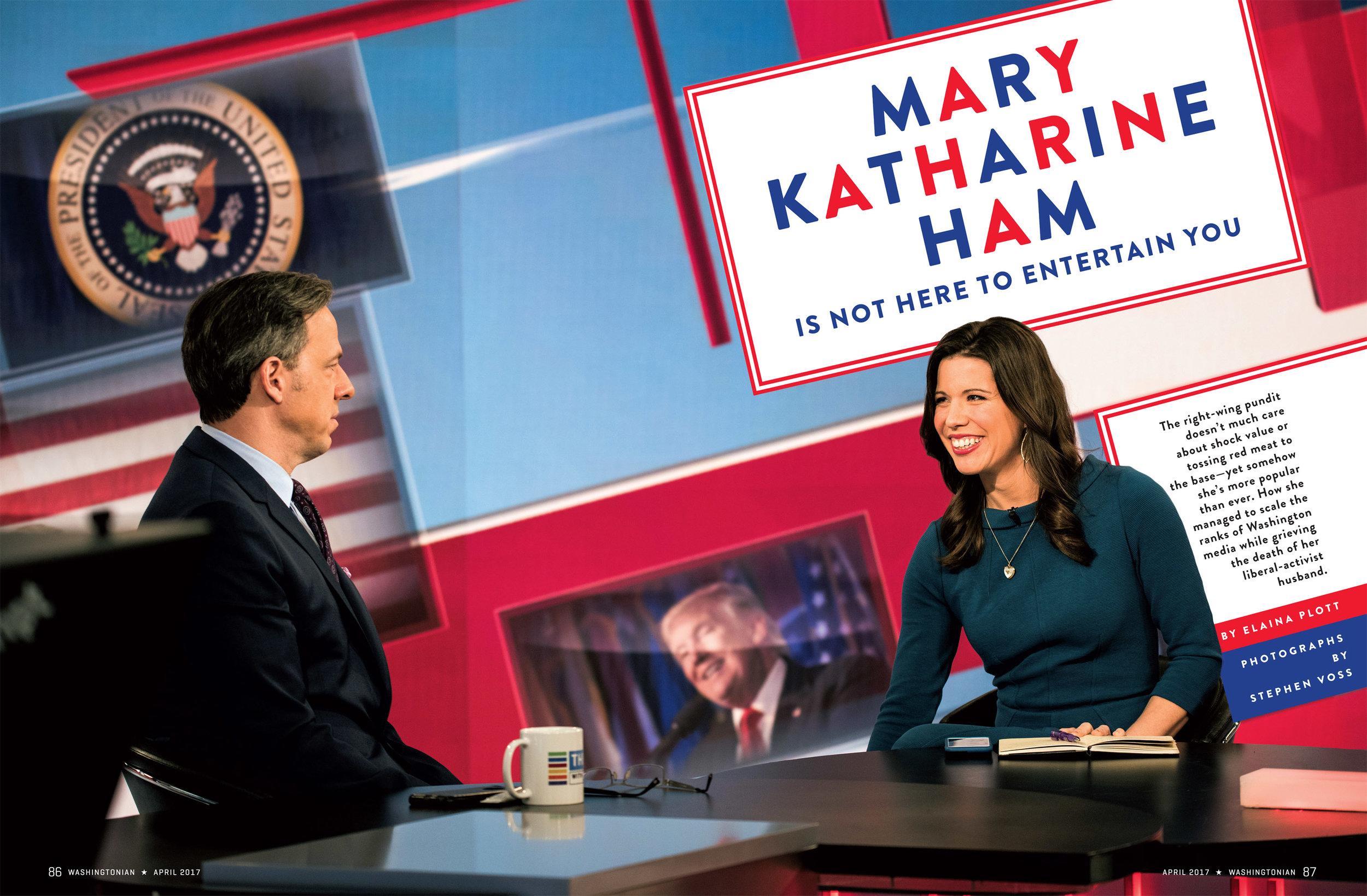 Political commentator MaryKatharine Ham for Washingtonian