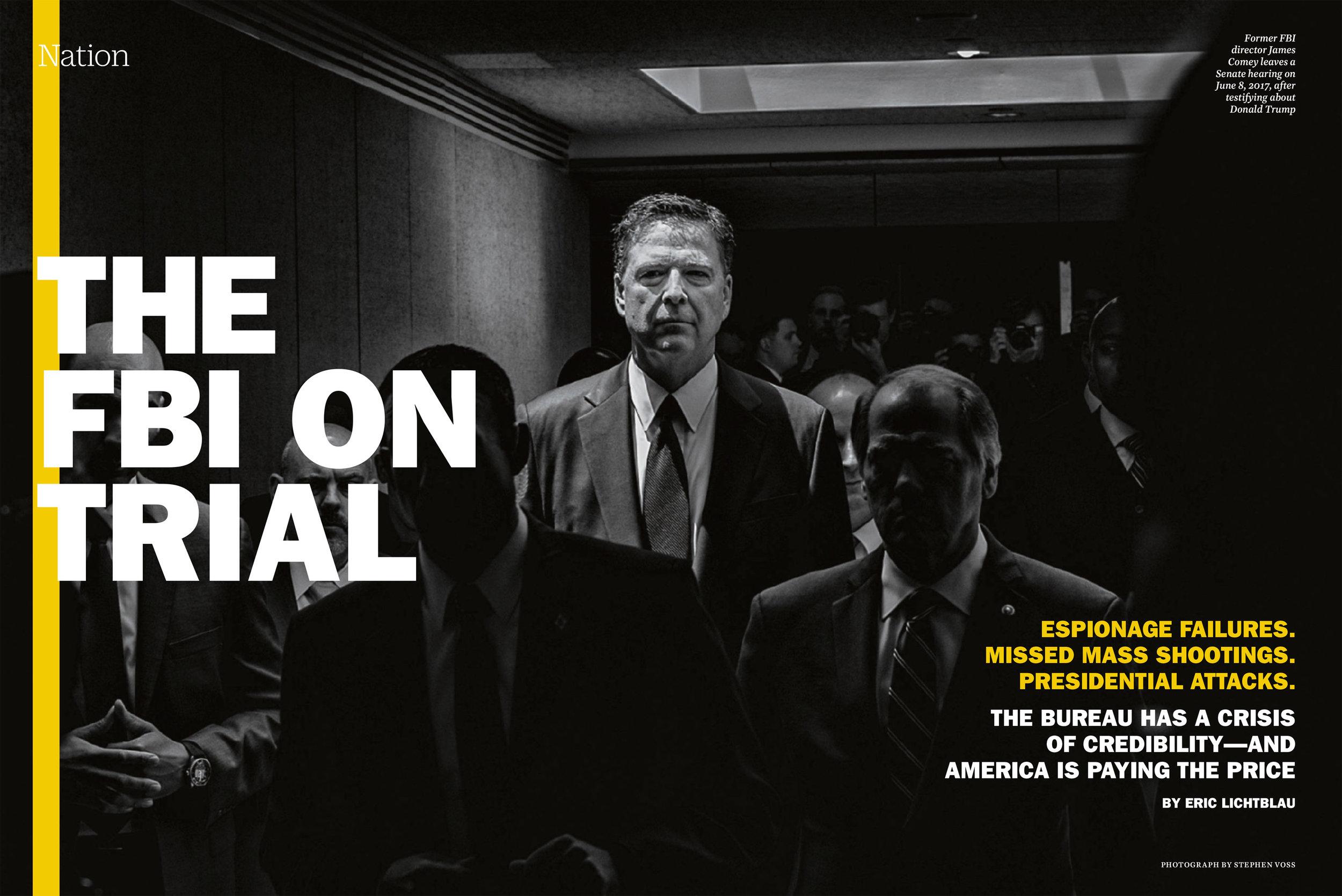 Former FBI director James Comey in TIME