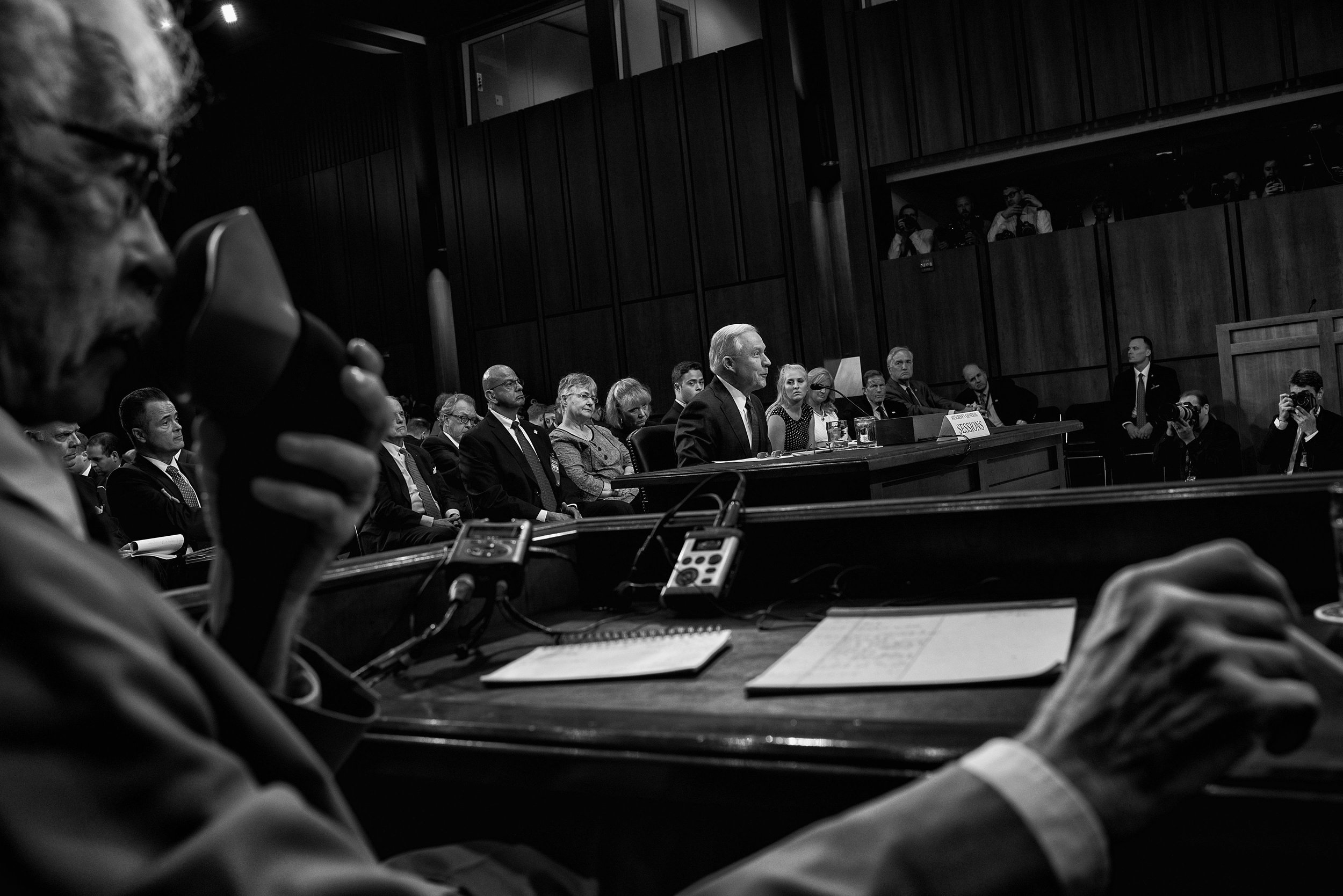 Day 145: Attorney General Jeff Sessions testifies before the Senate Intelligence Committee at the Hart Senate Office Building in Washington, DC on June 13, 2017.