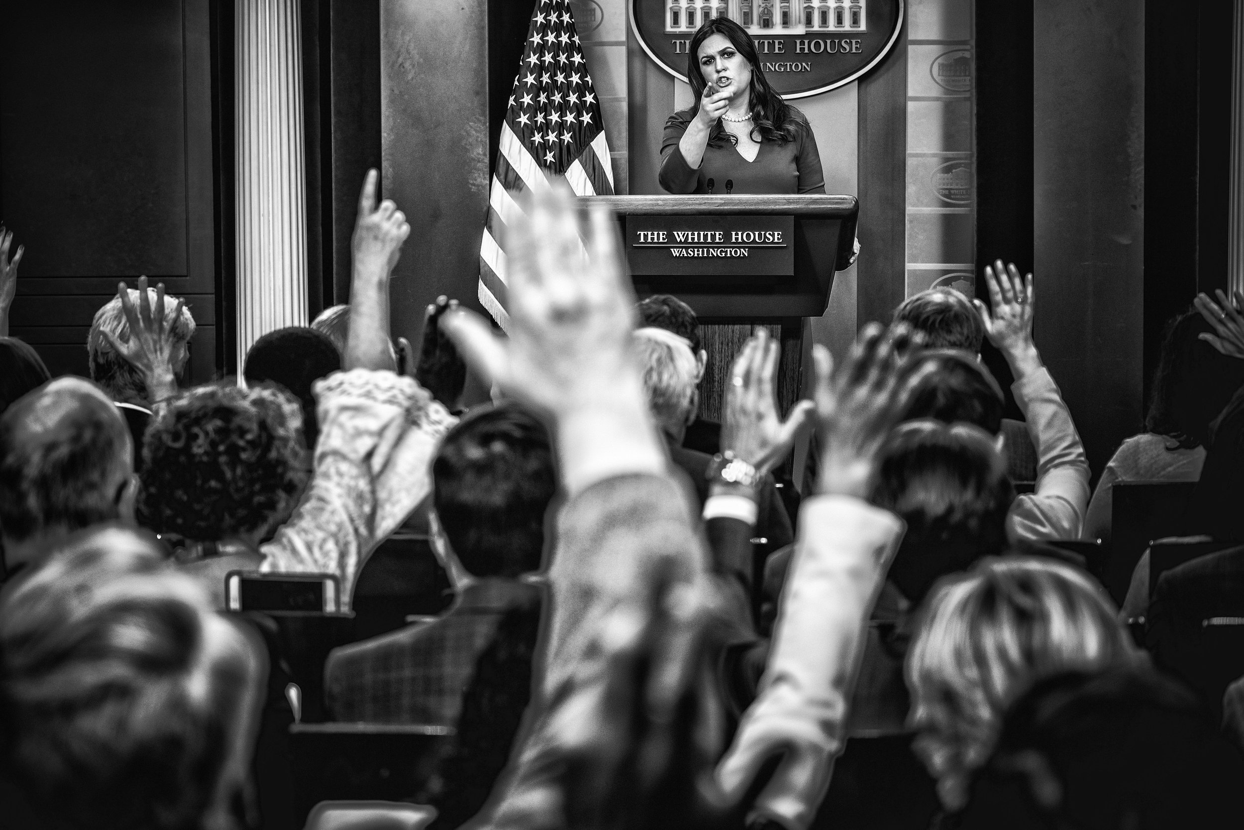 Day 281: White House Press Secretary Sarah Sanders in Washington, DC on October 27, 2017.
