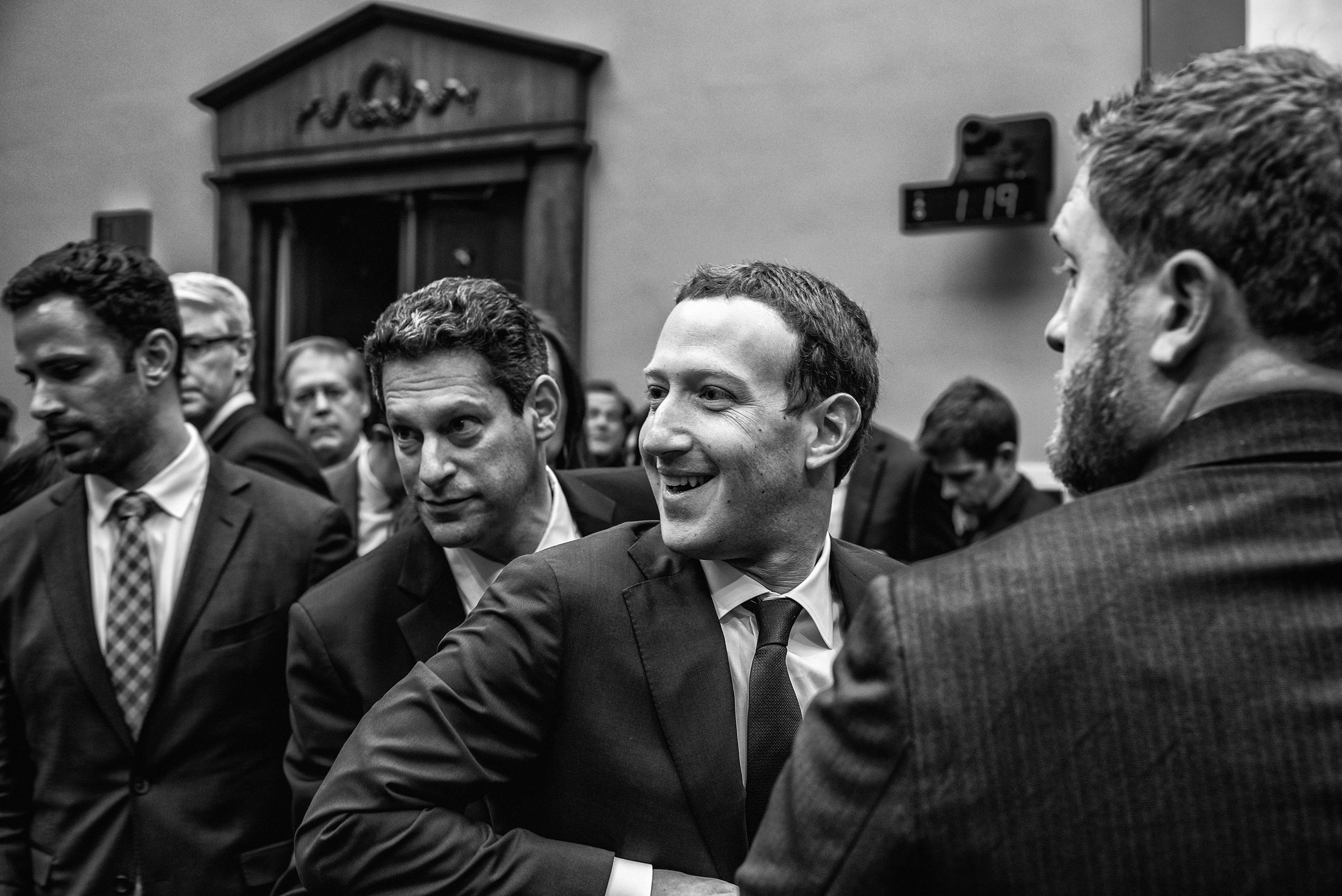Day 447: Facebook CEO Mark Zuckerberg leaves after testifying before the House Energy and Commerce Committee, in Washington, DC on Wednesday, April 11, 2018.