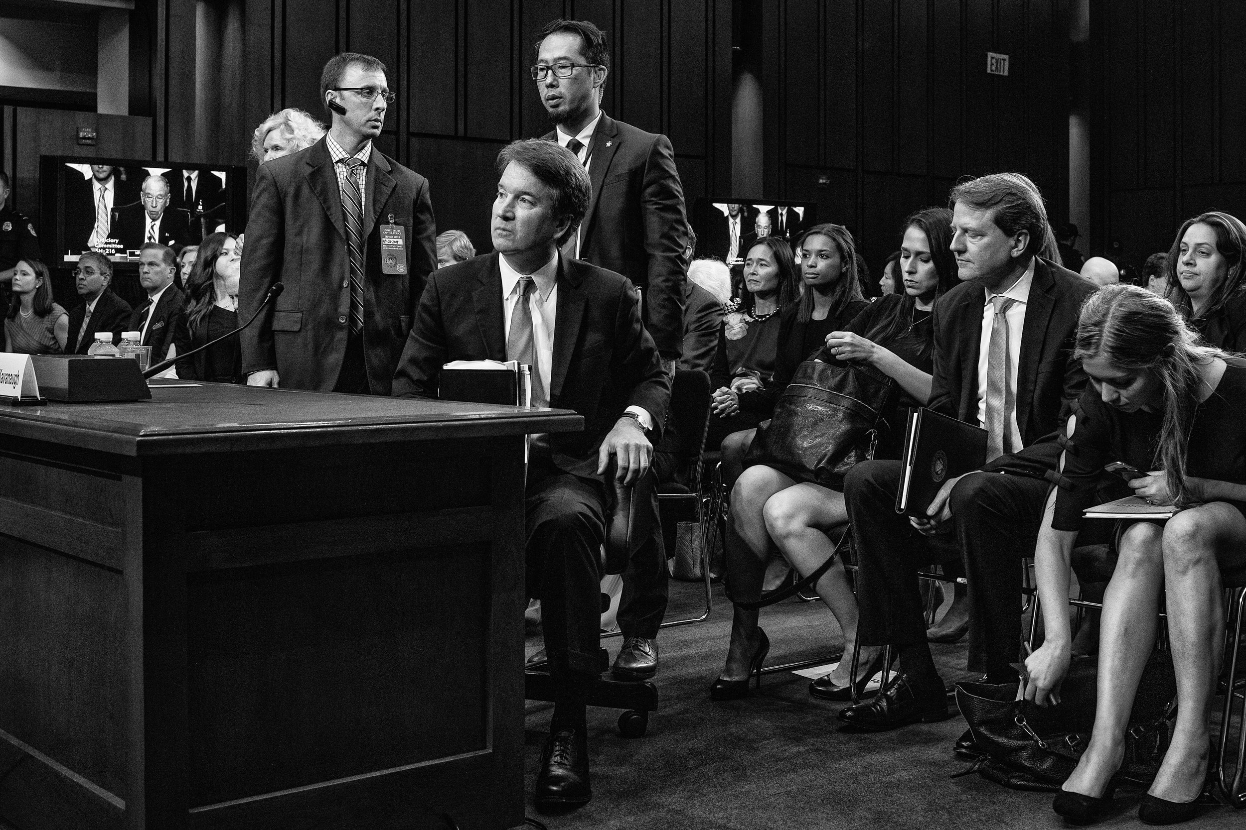 Day 594: US Supreme Court associate justice nominee Brett Kavanaugh speaks during a Senate Judiciary Committee confirmation hearing in Washington, DC, on September 5, 2018.