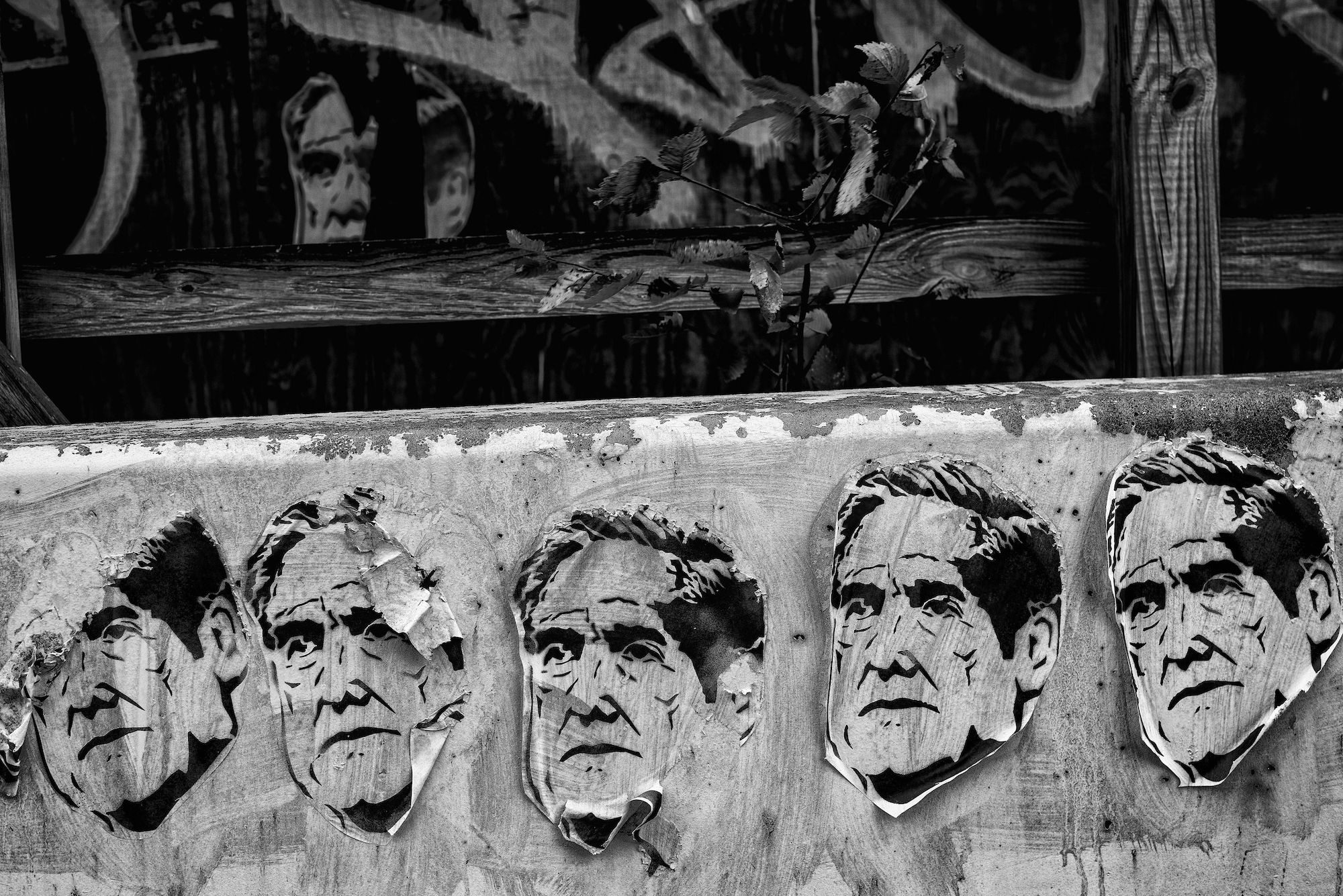 Day 915: Wheatpaste posters of Special counsel Robert Mueller at a construction site in Washington, DC on July 23rd, 2019, the day prior to Mueller's testimony before the House Judiciary and Intelligence Committees.