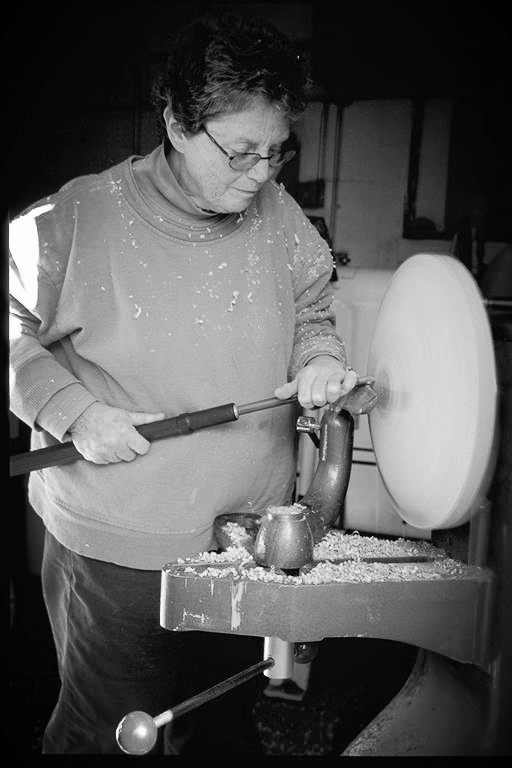 Merryll Saylan is a pioneer of contemporary wood turning and color within the medium. She is internationally recognized as a master of the art and wears the mantle of acclaim with humor and dignity. She weathers the storm of Exquisite Garden chaos and deftly adds her touch, either with hand or words. Merryll's list of recognition and accomplishments would cover this website. We honor the fact that Merryll wants to mix it up with the Gardeners.