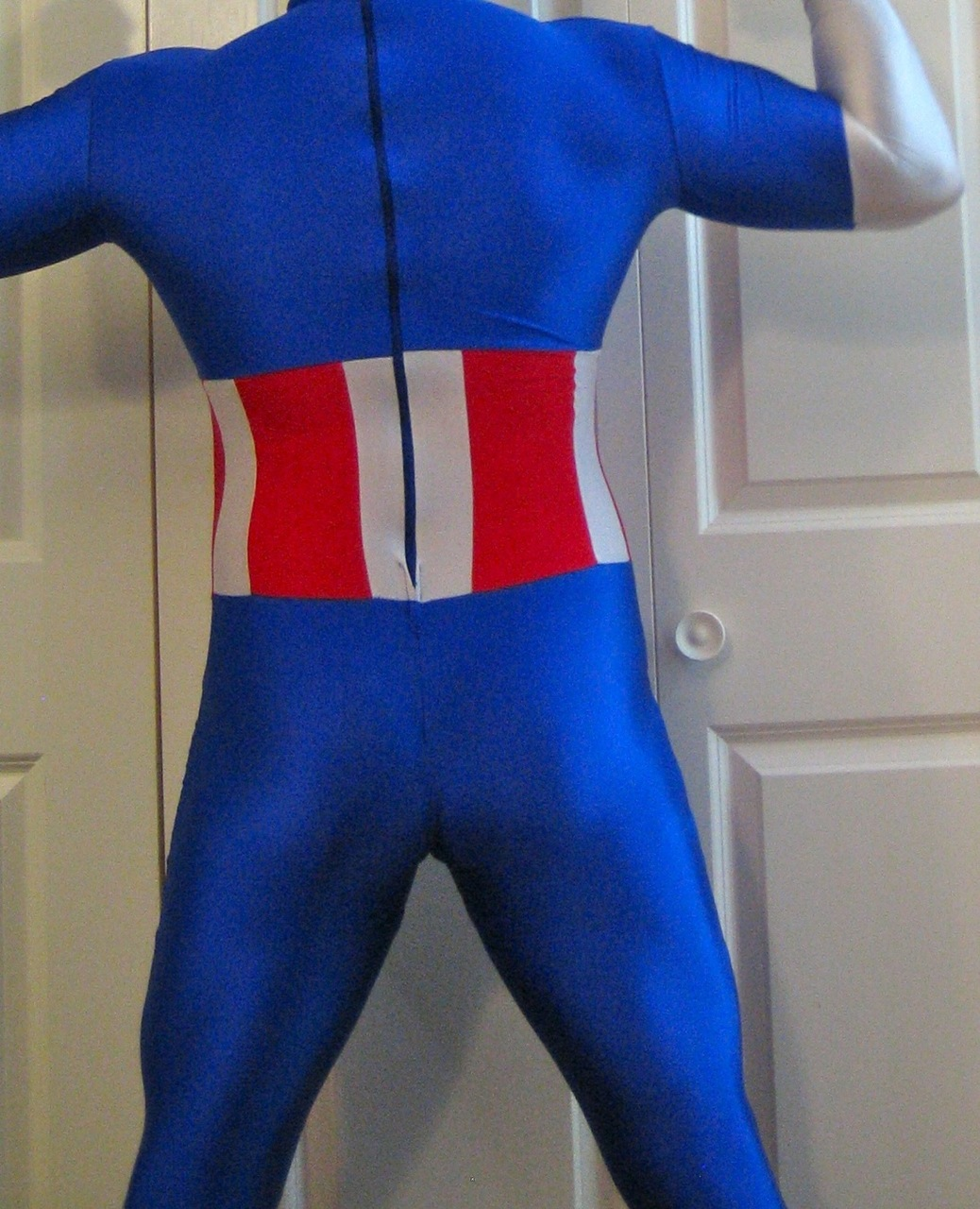 Throwback: One of Pablo's old Captain America suits.