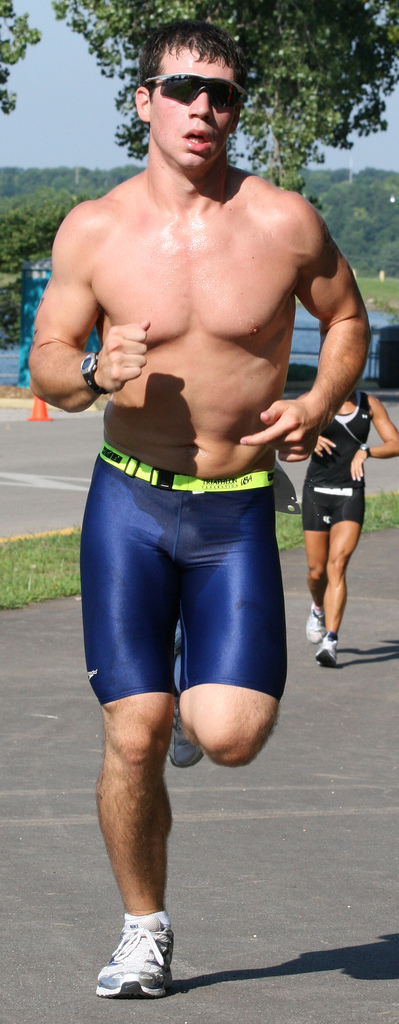 The bold look of spandex at races is always welcome.