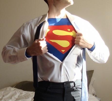 Captain Spandex as Clark/Kal-El