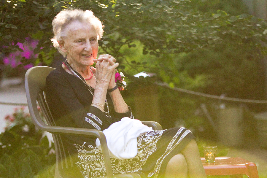 My Grandma, always in a dress or a skirt! Photo by Amy DeYoung