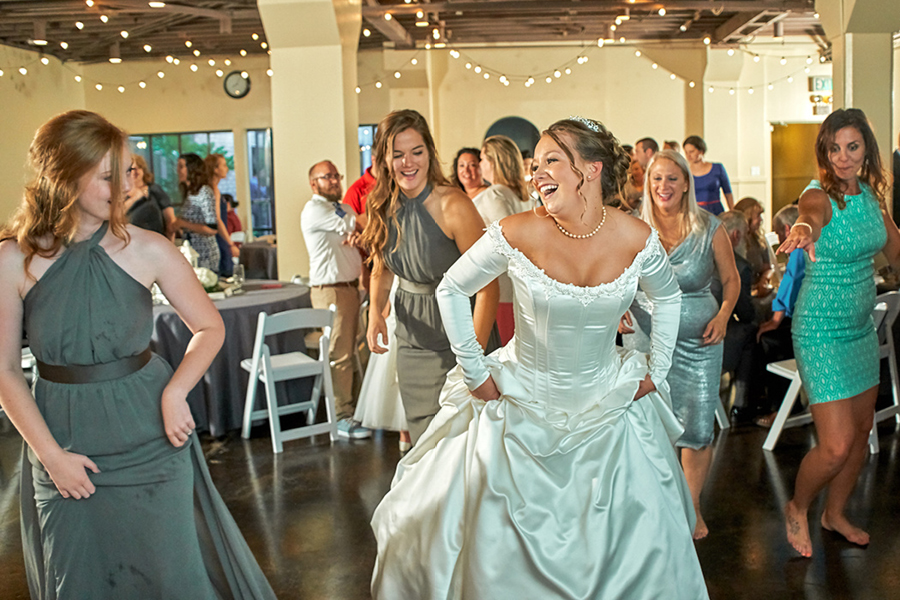 Being able to cash all those checks right away is a reason to party on Friday!    -Photo by Lavender Bouquet Photography