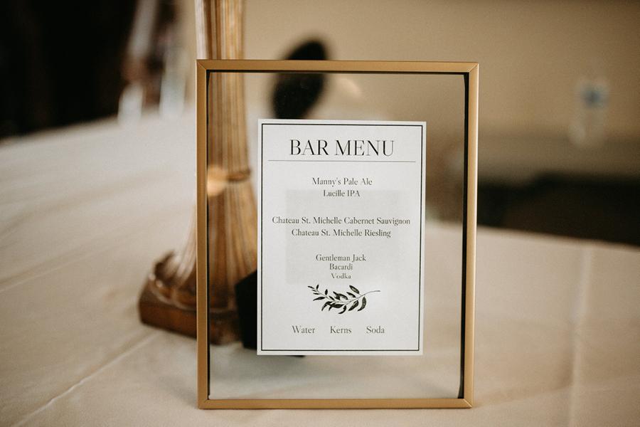 Tacoma Wedding Venues Bar Menu.jpg