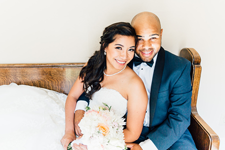 Wedding goals!!  Relaxed and calm.  Photo by Something Minted Photography