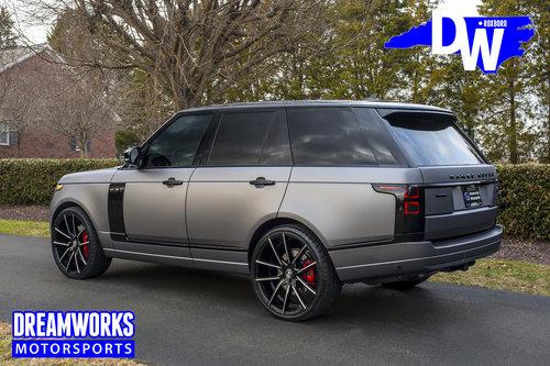 Justin Thomas Range Rover Dreamworks Motorsports
