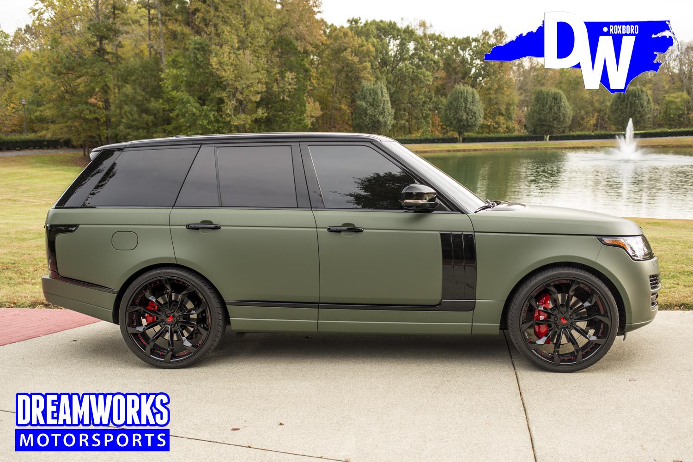 Matte Range Rover >> Eric Ebron Matte Green Range Rover Dreamworks Motorsports