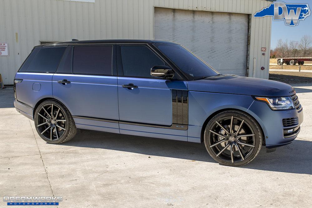Matte Range Rover >> Matte Blue Range Rover Dreamworks Motorsports