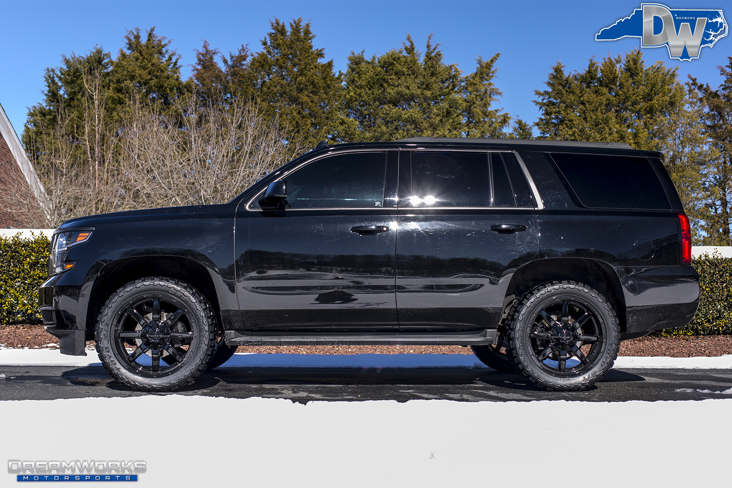Blacked Out Chevy Tahoe Dreamworks Motorsports