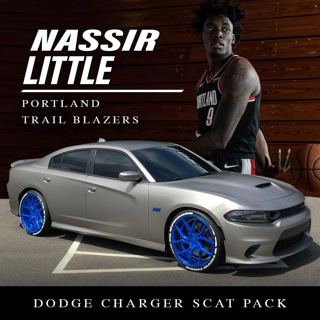 Nassir Little | Portland Trailblazers | Dodge Charger Scat Pack