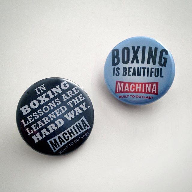 October #BadassBadges Every order over $50 gets a free set of three pugilistic Pinbacks! #machinaboxing #boxingisbeautiful #spitfirebelchsmoke #womensboxing