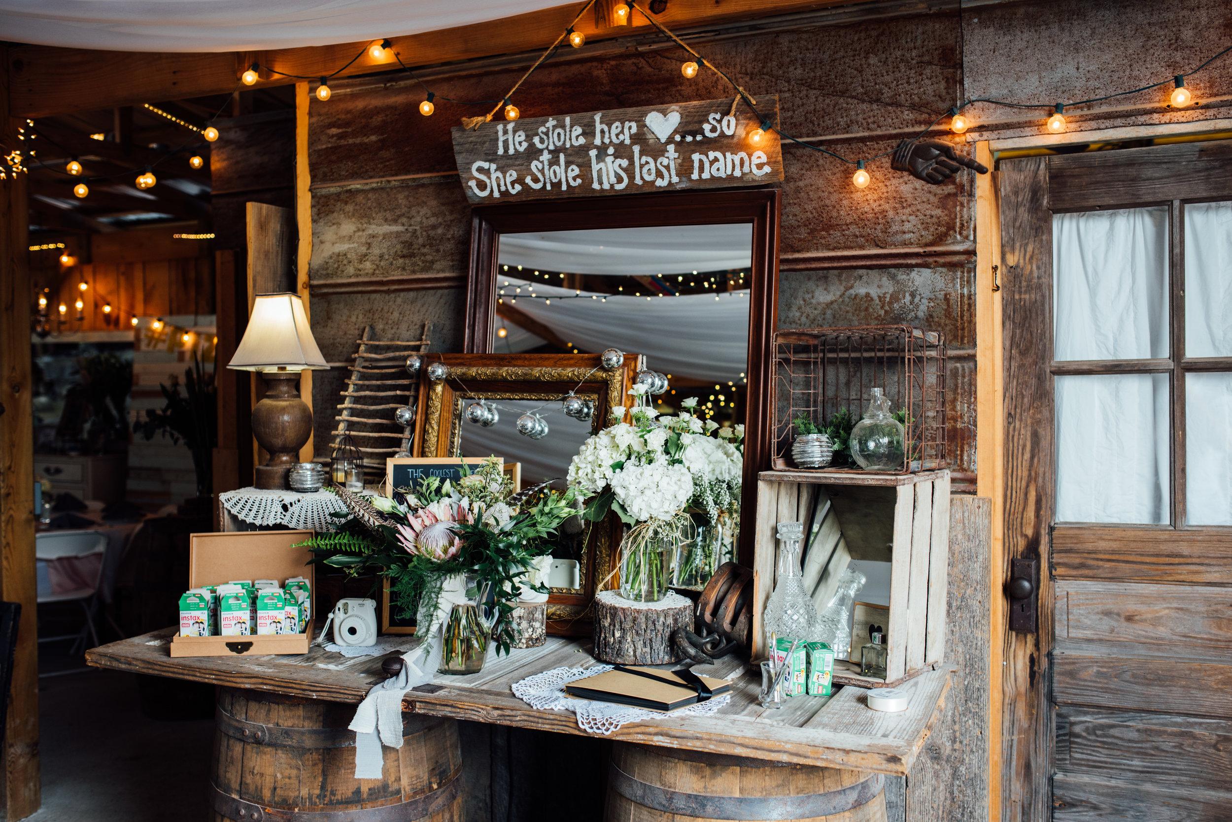 wedding decorations barn at drewia hill
