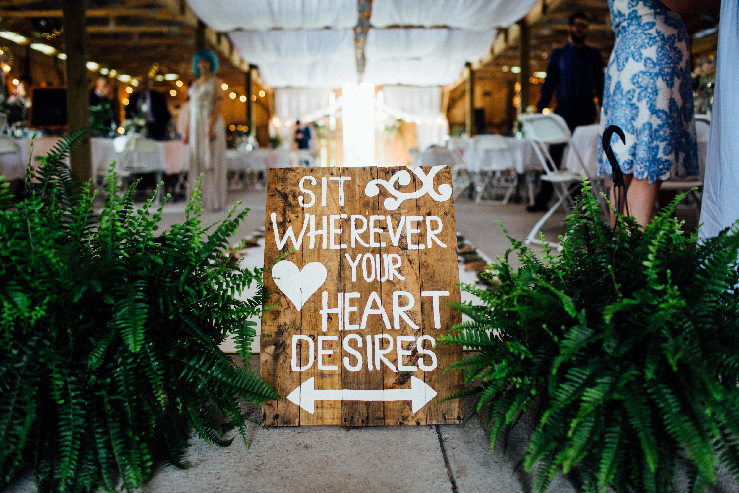 sit wherever your heart desires ceremony seating sign