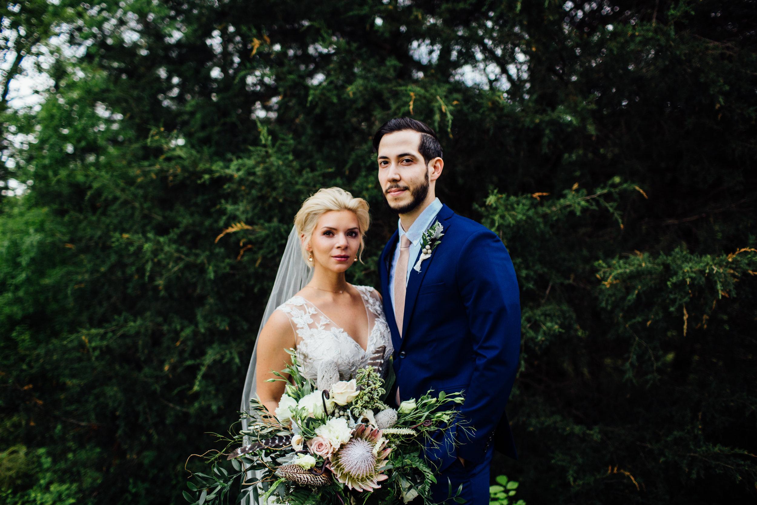 bride and groom fierce