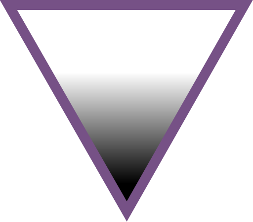 Symbol for asexuality: Upside down purple triangle