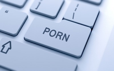Computer keyboard with porn button