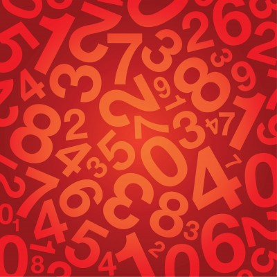 Series of numbers jumbled together