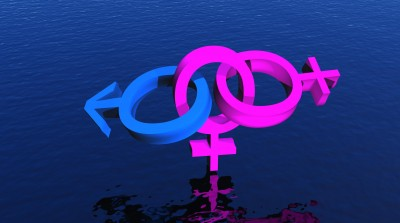 Female bisexuality depicted by male and female gender symbols
